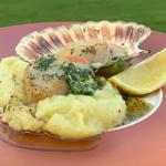John Torode BBQ scallops with mash potatoes, lemons and tartar sauce recipe on This Morning