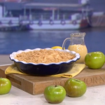 Phil Vickery winter apple crumble with lemon zest recipe on This Morning
