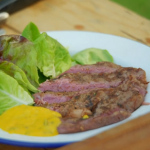 Rick Stein rib-eye steak with peppercorns, chillies and bearnaise sauce recipe on Rick Stein's Cornwall