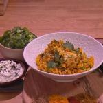 Ruby Bhogal Mamma B's chicken biryani recipe on Steph's Packed Lunch
