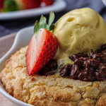 Simon Rimmer cookie dough pancake with hazelnut crunch recipe on Sunday Brunch