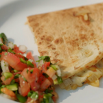 Rick Stein Mexican quesadillas pancake with Cornish Gouda cheese, apples, onions and salsa recipe on Rick Stein's Cornwall