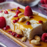 Simon Rimmer coconut parfait with salted caramel and peanuts recipe on Sunday Brunch