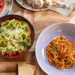 John Torode pesto pasta with basil, parsley and pine nuts recipe on John and Lisa's Weekend Kitchen
