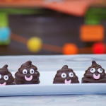 Liam Charles poo biscuits with chocolate and marshmallows recipe on Junior Bake Off