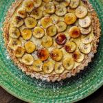 Simon Rimmer banana cheesecake tart recipe on Sunday Brunch