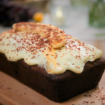 Ed Balls banana bread with cream cheese frosting recipe on Celebrity best Home Cook