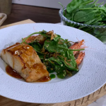 James Martin miso black cod with spinach and crispy leeks recipe on This Morning