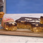 Juliet Sear store cupboard flapjacks with cereals, chocolate and caramel recipe on This Morning