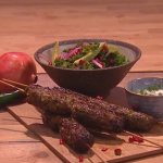 Ruby Bhogal spicy lamb koftas with kale and pomegranate salad recipe on Steph's Packed Lunch