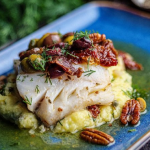 Simon Rimmer Sizzling Pollock With Olives recipe on Sunday Brunch