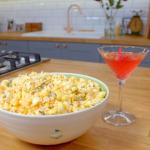 Raymond Blanc Rosemary and Parmesan popcorn with rose petal martini recipe on Simply Raymond Blanc