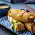 Simon Rimmer Smoked Salmon Spring Rolls recipe on Sunday Brunch