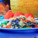Paul Ainsworth crab and squid ink linguine recipe on James Martin's Saturday Morning