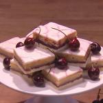John Whaite Bakewell slices recipe on Steph's Packed Lunch