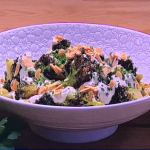 Jack Stein charred broccoli and broad bean salad with ranch dressing recipe on Steph's Packed Lunch