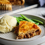 Simon Rimmer chicken satay pie with peanut butter and mash potatoes recipe on Sunday Brunch