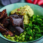 Simon Rimmer Roasted Aubergine Poke Bowl recipe on Sunday Brunch