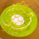 James Martin potato and watercress soup with a soft boiled egg and potato lattice recipe on James Martin's Saturday Morning