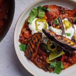 Simon Rimmer aubergine chilli recipe on Sunday Brunch