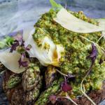 Simon Rimmer Charred Asparagus With Hazelnut Pesto recipe on Sunday Brunch