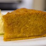 James Martin warm treacle tart with Gloucestershire cream recipe on James Martin's Saturday Morning