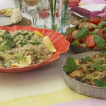 Clodagh McKenna al fresco feast with Panzanella, Amalfi chicken and Italian rice salad recipe on This Morning