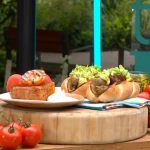 Tom Kerridge ultimate hot dog with pigs in blanket, pickles and cheese recipe on This Morning