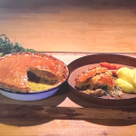 Simon Rimmer chicken pie with clotted cream mash recipe on Steph's Packed Lunch