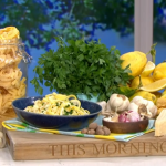 Clodagh McKenna quick and easy lemon fettuccine pasta with cream and Parmesan cheese recipe on This Morning