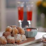 John Torode and Lisa Faulkner ricotta doughnuts with chocolate sauce recipe on John and Lisa's Weekend Kitchen