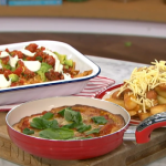 Phil Vickery football feast with nachos, cheesy chips and pizza recipe on This Morning