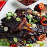 Simon Rimmer lamb ribs with chilli vinegar dip recipe on Sunday Brunch
