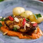Simon Rimmer monkfish with romesco sauce recipe on Sunday Brunch