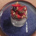 Simon Rimmer Greek yogurt panna cotta with rose water and berries recipe on Sunday Brunch