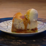 Simon Rimmer peanut butter and jelly cheesecake recipe on Steph's Packed Lunch
