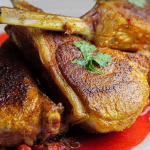 Simon Rimmer Lamb Chops With Chickpeas And Beetroot recipe on Sunday Brunch
