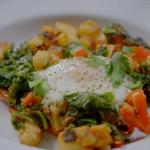 Ainsley Harriott breakfast hash with nduja and kale recipe on Ainsley's Good Mood Food