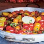 Jamie Oliver slow-roasted cherry tomatoes with garlic, oregano and vinegar recipe