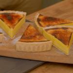 Marcus Bean lemon verbena custard tart recipe on Ainsley's Good Mood Food