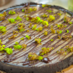 The Hairy Bikers' key lime pie with gin, condensed milk and chocolate drizzle recipe on The Hairy Bikers Go North