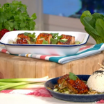 Phil Vickery miso salmon traybake with frozen beans recipe on This Morning