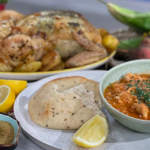 Clodagh Mckenna roast chicken with tarragon and leftover chicken curry with yoghurt recipe on This Morning