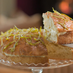 The Hairy Bikers German bee sting cake with candied lime zest, rum and honey recipe