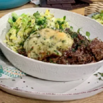 Clodagh Mckenna chocolate beef stew with herby potato dumplings recipe on This Morning