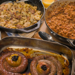 The Hairy Bikers Boston baked beans with farmhouse saute and Cumberland sausage recipe
