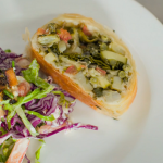 The Hairy Bikers American layered salad with summer vegetable strudel recipe