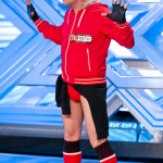 Christian Grigore Spiridon the waiter dressed in red failed to impress on The X Factor 2013 auditions