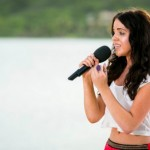 MELANIE MCCABE at Judges Houses in Antigua singing Run by Snow Patrol X Factor 2013