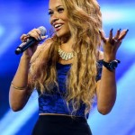Tamera Foster sings  Ain't Nobody on The X Factor 2013 first live show – eighties themed night